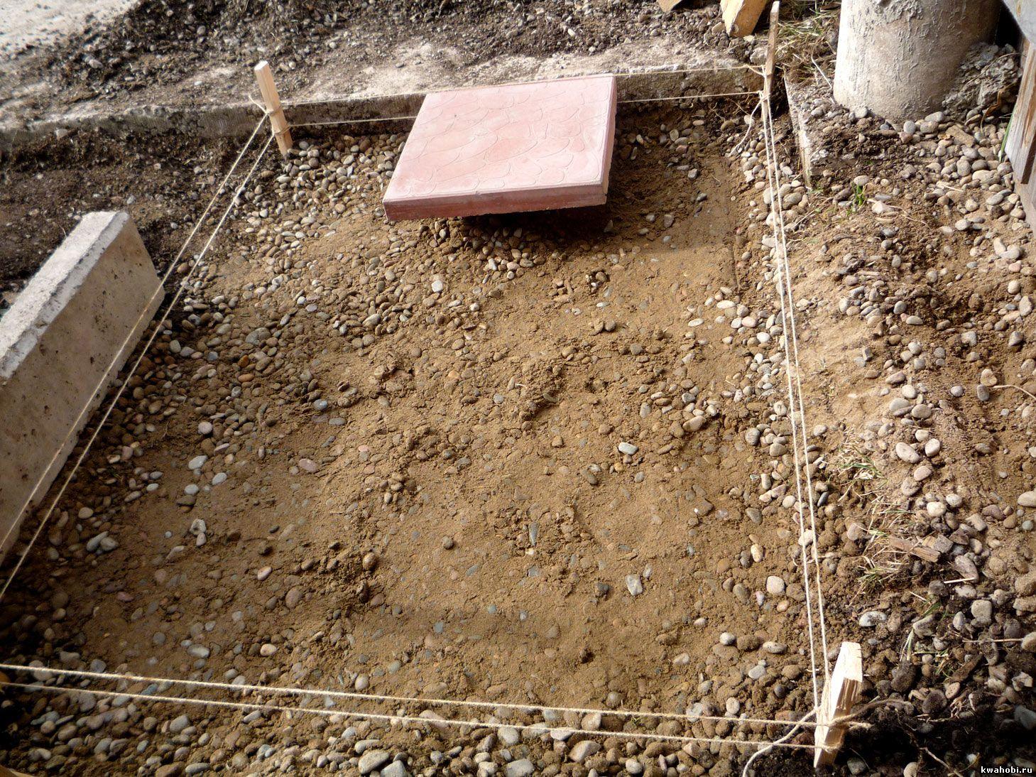 простая садовая дорожка из плиток