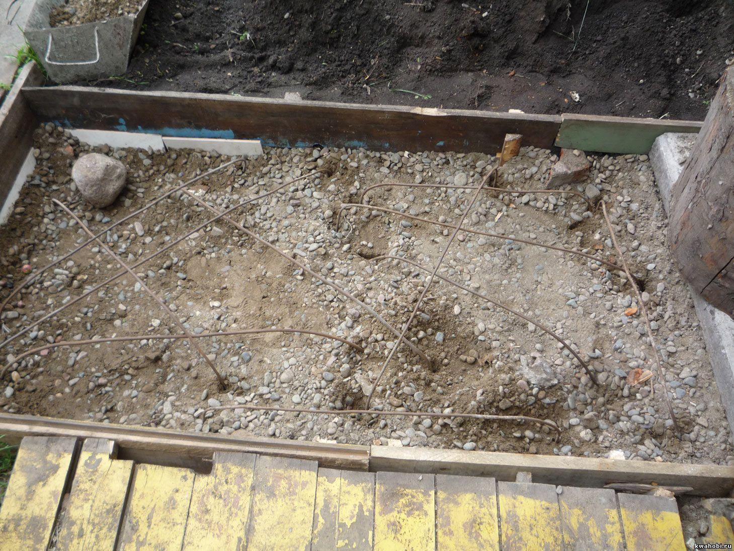 площадка под печь-коптильню