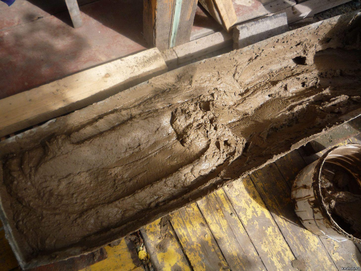 размачивание глины для печи-коптильни