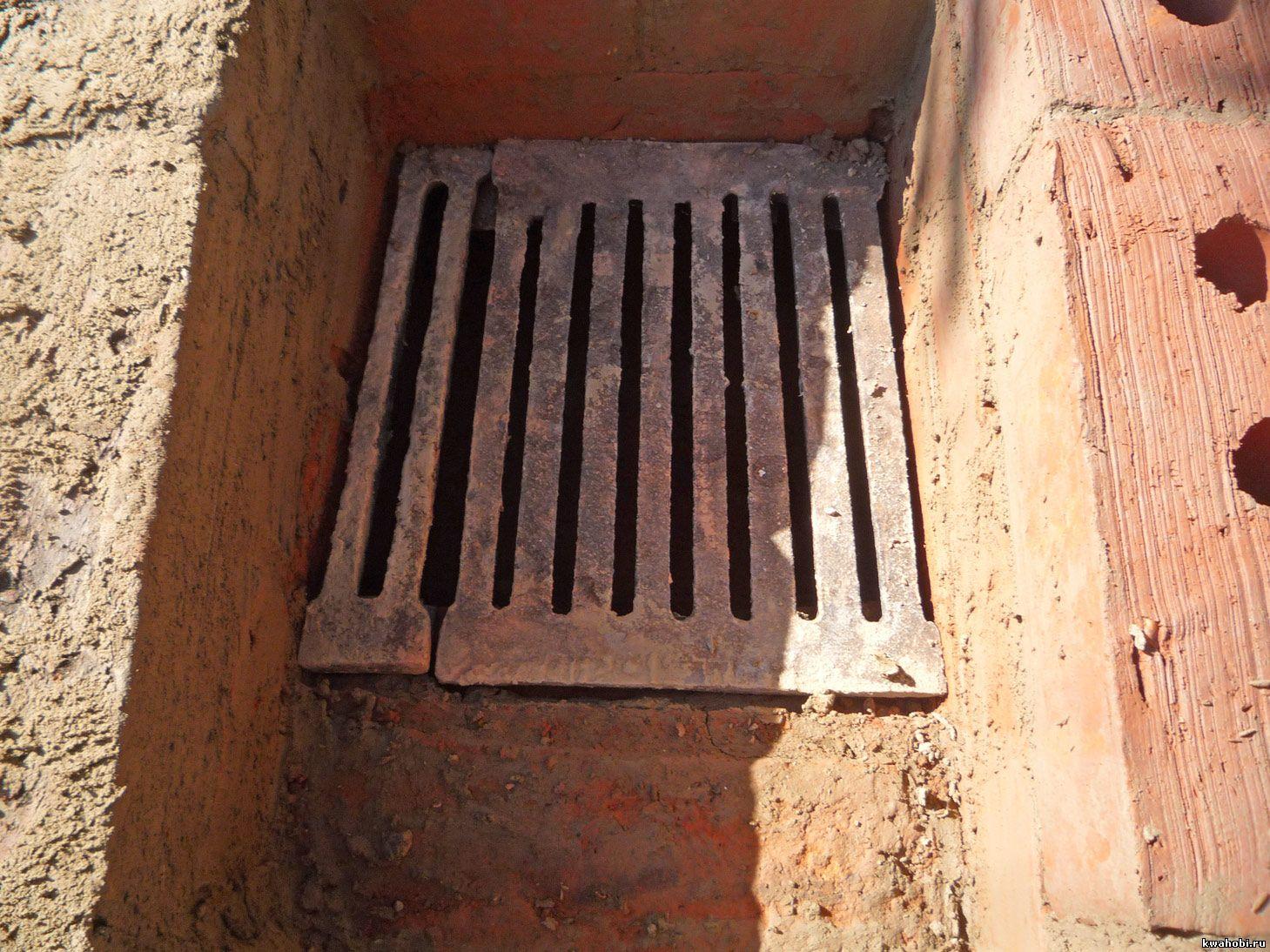 уличная печь с мангалом и коптильней из кирпича самому колосники