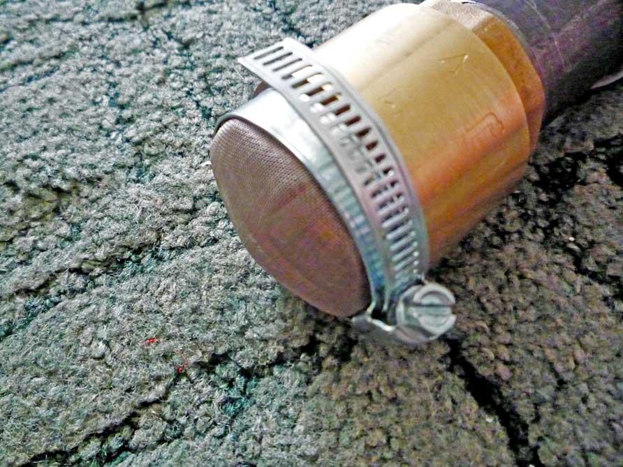 Сетка на обратном клапане
