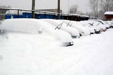 Красноярск зимой.