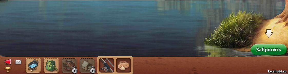 нижняя часть экрана игры Рыбное место2