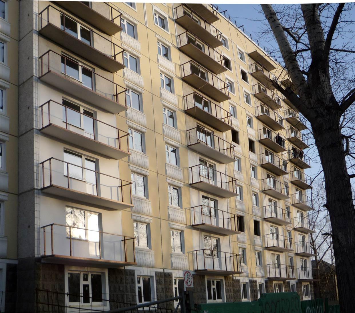 монтаж металлического каркаса балконов